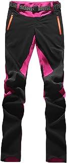 U/A Donna Pantaloni da Trekking Outdoor Asciugatura Rapida Pantaloni Sportivi con Cintura Pantaloni Lunghi da Escursionismo