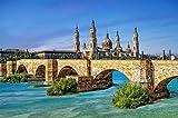 FAWFAW Puzzle Personalizado 1000 Piezas, Castillo De Zaragoza Puente Arquitectura Juegos De Rompecabezas Familiares