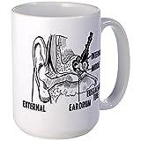 CafePress Ear Diagram Large Mug Coffee Mug, Large 15 oz. White Coffee Cup