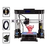 PrinThink A8 3D Drucker Bausatz, Upgradest High Precision MK8 Düse 220 * 220 * 240mm Druckergröße...