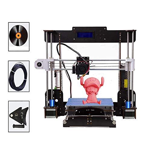 Stampanti 3D, PrinThink A8 Stampante 3D LCD Stampante per schermo LCD fai-da-te Cornice in legno per aviazione, fai-da-te, supporto ABS / PLA, dimensioni di stampa 220 x 220 x 240 mm