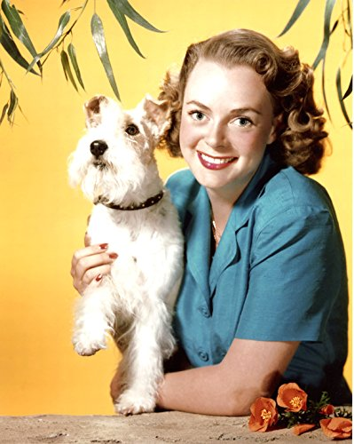 June Lockhart with Dog 8x10 Photo #S1885