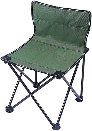 GLQ Mini Klapp Camping Hocker Stuhl-Portable Camping Angeln Stuhl Geeignet für Strandhocker Oxford wasserdichte Tuch Picknick Party Camping,Grün