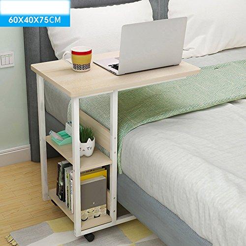 FEI Table de lit pour la maison ou l'hôpital - ordinateur portable, lecture et petit déjeuner panier pour les patients alités 60 * 40 * 75cm (Couleur : White maple)