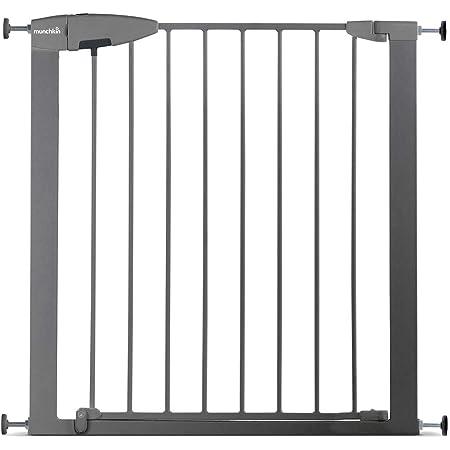 Munchkin Cancelletto di sicurezza Easy Lock, argento, 73 - 79 cm