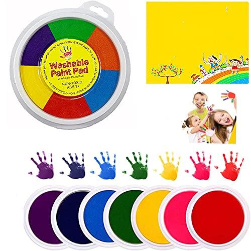 ZDDO Kit Divertido para Pintar con Los Dedos, Juguetes para Dibujar con Los Dedos, Kit De Herramientas Educativas, Pintura De Barro, Aprendizaje Temprano para Niños 12 Colores + álbum
