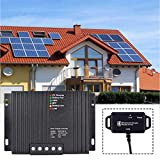 MPPT Controlador de Carga Solar, WIUANG 50V 10A Controlador de Carga Solar, MPPT Regulador de batería del panel solar pour la protection de surintensité de lampe de batterie de panneau solaire