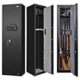 Biometric Fingerprint Gun Safe for Rifle, Upgraded Quick Access Large Rifle Gun Security Cabinet for 5-8 Rifle Shotgun Firearms with/without Scopes with Pistol Lock Box