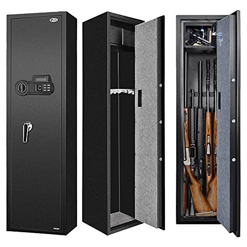 Biometric Fingerprint Gun Safe for Rifle, Upgraded Quick Access Large Rifle Gun Security Cabinet for...
