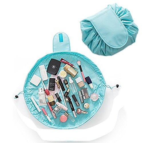 YiKiMira Lazy Portable Make-up Tasche Große Kapazität Kordelzug Kosmetiktasche Wasserdichte Reise Make-Up Beutel Magie Kulturbeutel Organizer für Frauen Mädchen (Grün) EINWEG Paket