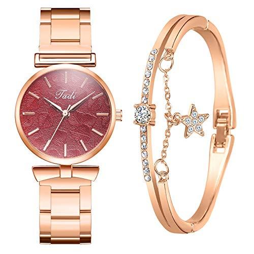 Xmansky Frauen Quarz Analog Handgelenk Kleine Uhr Luxus Casual Armbanduhren Uhr Und Armband Set Damen Quartz Uhr Damen Quartz Uhr Damenuhren GüNstig Uhr Und Armband Set