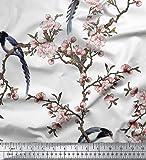 Soimoi Weiße Seide, Stoff Blumen & Paradise Whydah