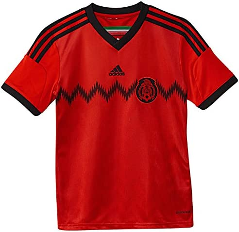 Amazon.com: Adidas Youth Mexico 2014 Away Red/Black Jersey ...