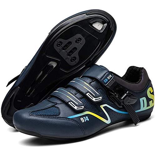 WDZJM Zapatos de Ciclismo, Zapatos de Cierre de Bicicleta de montaña y Verano de Verano, Zapatos de Bicicleta, Zapatos de Ciclismo al Aire Libre. (Color : A, Size : 43)
