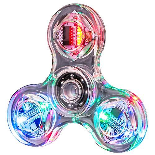 SUCHUANGUANG Novedad Cambios múltiples LED Fidget Spinner Luminoso Mano Top Spinners Brillan en la Oscuridad EDC Juguetes para aliviar el estrés Cuentas giratorias