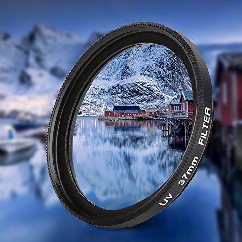 Filtro de Lente, Filtro de Lente UV Duradero, 37 mm Profesional Mejora la claridad de la cámara de 37 mm