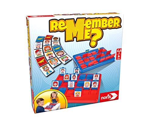 noris 606064477 Remember me, das lustigste Ratespiel mit 18 verschiedenen Charakteren, für Kinder ab 5 Jahren, Mehrfarbig