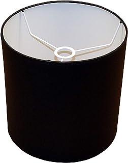 Abażur 240x240 mm średnica x wysokość   Walec   Bawełna czarna   Pod oprawkę E27   Do lamp stołowych, podłogowych i wisząc...