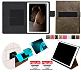 reboon Hülle für Huawei MediaPad M2 10.0 Tasche Cover Case Bumper | in Braun Wildleder | Testsieger