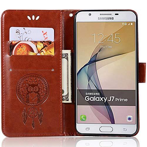 Capa de couro para Samsung Galaxy J7 Prime 2, capa carteira para Galaxy J7 Prime 2, capa flip floral em couro PU com suporte para cartão de crédito para Samsung Galaxy J7 Prime 2 de 5,5 polegadas
