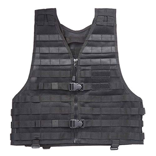 5.11 LBE Tactical Vest with MOLLE for Paintball Airsoft Hiking Hunting, Style 58631, Black, XX-Large