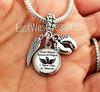 Miscarriage Loss of Child baby Grandbaby Gift, Charm Bracelet Necklace - Jewelry for Infant Loss