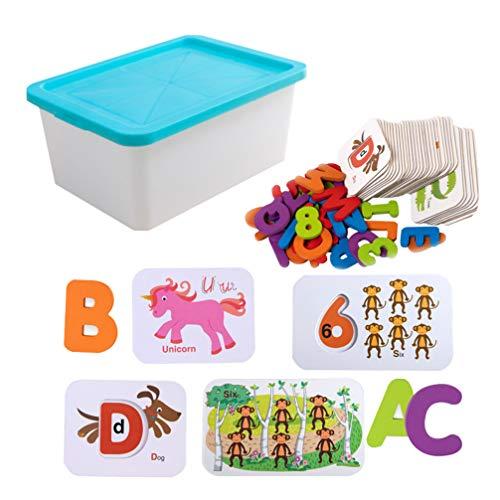 NUOBESTY Flash Kaarten Puzzels Alfabet Abc Brief Nummer Math Houten Puzzel Peg Board Voorschoolse Educatief Montessori Speelgoed Voor Peuters Kids