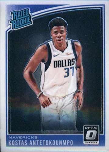 2018-19 Donruss Optic #185 Kostas Antetokounmpo Dallas Mavericks Rookie Basketball Card