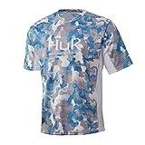 HUK Men's Icon X Camo Short-Sleeve Performance Fishing Shirt, Ice Boat - Refraction, Large