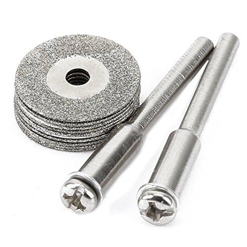Dophee 10pcs Mini Diamond Coated Cutting Off Discs Fit Rotary Tool for Dremel Drill (16mm)