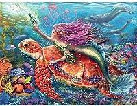6000ピースパズル子供大人の人魚亀パズルおもちゃ-家族教育パズルおもちゃギフト