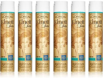 Loreal Elnett Satin Hairspray Extra Strong Hold Unscent 11 Ounce  325ml   6 Pack