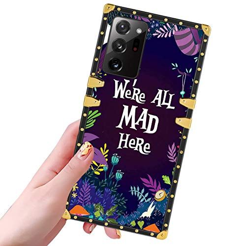 DISNEY COLLECTION Samsung Galaxy Note 20 Ultra Case Alice in Wonderland Pattern Design Glitter Golden Slim Cool Shockproof Bumper Protective Galaxy Note 20 Ultra 5G Cover 6.9 Inch 2020