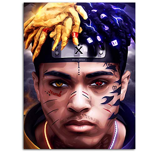 DRAGON VINES Rapper Travis Scott Canvas Poster Wall Art Home Decor Framed Naruto Amino Music Star Horror 18x24inch