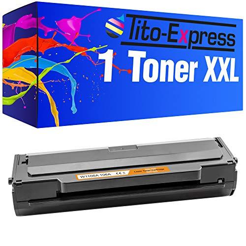 Tito-Express PlatinumSerie 1 Toner XXL MIT CHIP kompatibel mit HP W1106A 106A | Für HP Laser 107 107A 107W MFP 130 135A 135AG 135W 135WG 137FWG 137FNW 138FNW 138FW 138P 138PN 138PNW | 1.000 Seiten
