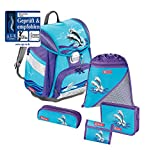 Step by Step Satchel-Set (set of 5) Touch Happy Dolphins Blu|multicolore