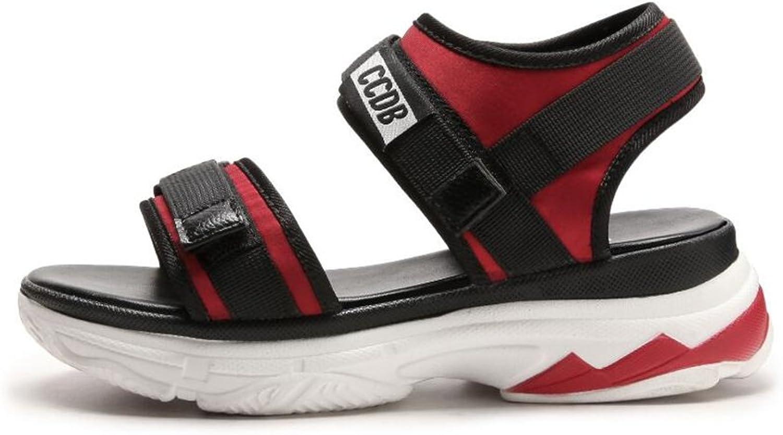 ALLAK Women's Platform Sandal Open Comfortable Peep Toe Flatform shoes