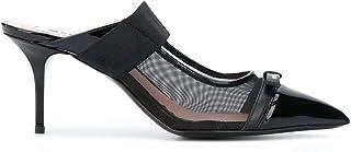Luxury Fashion | Msgm Women 2841MDS356733899 Black Leather Heels | Autumn-winter 20