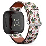 Q-Beans Replacement Leather Watch Band, Compatible with Fitbit Versa 3 and Fitbit Sense - Best Creative Design Poster Flyer