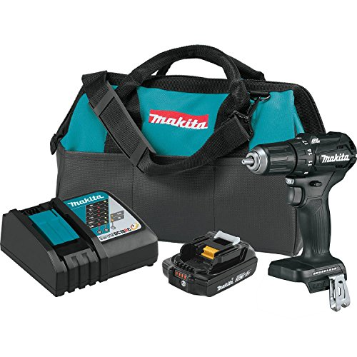 Makita XFD11R1B 18V LXT Lithium-Ion Sub-Compact Brushless Cordless 1/2' Driver-Drill Kit (2.0Ah)