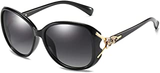 Large Frame Easy-matching Black Oval Polarized Sunglasses...