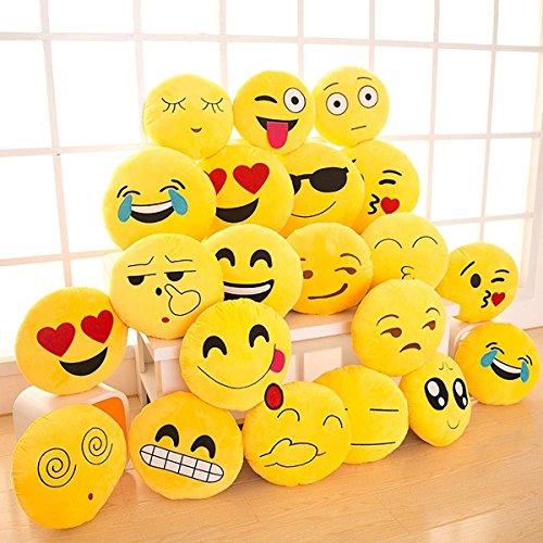 Gloworks 14' Emoji Pillow (Set of 12) Assorted Emojis