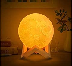 KREVIA PVC Two Color Changing 3D Moon Night Lamp for Home Decorative Fancy Night Lamps for Bedroom Lights for Adults and Kids Home Room Beautiful Indoor Lighting, 1pc(White Color)