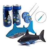 Tipmant Mini RC Fish Electronic Shark Radio Remote Control...