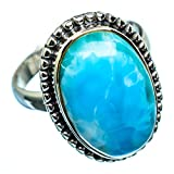 Ana Silver Co Larimar 925 Sterling Silver Ring Size 9.25 - Handmade Jewelry, Bohemian, Vintage RING974878