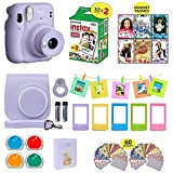Fujifilm Instax Mini 11 Instant Camera + Shutter Compatible Carrying Case + Fuji Film Value Pack (20 Sheets) + Shutter Accessories Bundle, Color Filters, Photo Album, Assorted Frames (Lilac Purple,)