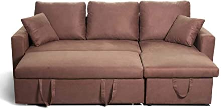 Luxury Contemporary Living Room L-Shaped Couch, Modern Linen Fabric Convertible Couch Sleeper, Loveseat Sofa with Pull Out...