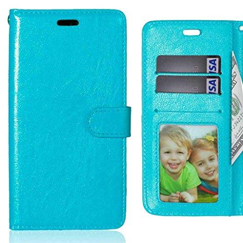 LEMORRY Handyhülle für Lenovo Vibe X3 Hülle Tasche Geprägter Ledertasche Beutel Schutz Magnetisch Schließung SchutzHülle Weich Silikon Cover Schale für Lenovo Vibe X3, Bilderrahmen Blau