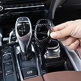 HERBEN Carbon Fiber Gear Shift Knob Cover Trim for BMW F20 F30 F31 F34 X5 F15 X6 F16 X3 F25 X4 F26 F10 Models (Sports Style)