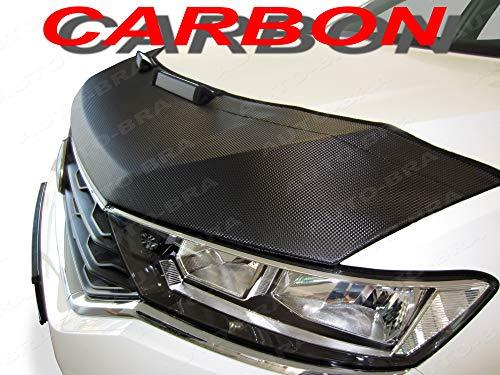 AB-00758 CARBON OPTIK Auto Bra kompatibel mit VW Volkswagen Golf 7 Sportsvan Haubenbra Steinschlagschutz Tuning Bonnet Bra